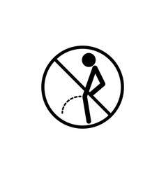 No peeing line icon pee vector