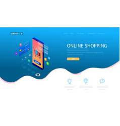 online shopping sale consumerism and vector image