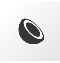 palm fruit icon symbol premium quality isolated vector image