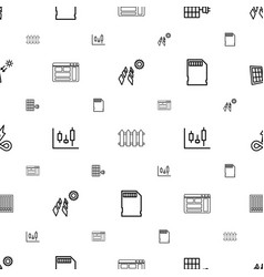 panel icons pattern seamless white background vector image