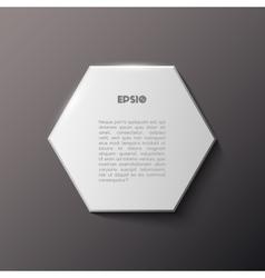 Paper hexagon white banner vector
