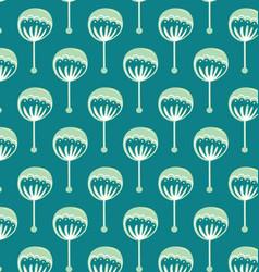 pattern blue flowers vector image