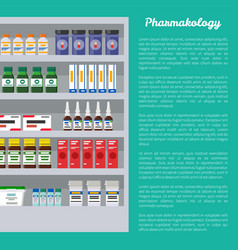 pharmacology poster and text vector image