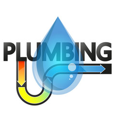 plumbing maintenance and service vector image