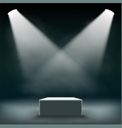 podium for exhibition and awards ceremony vector image