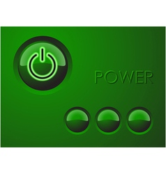 power buttons vector image