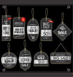 price tag retro vintage collection 02 vector image