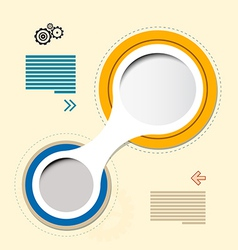 Progress steps for tutorial retro paper circle vector