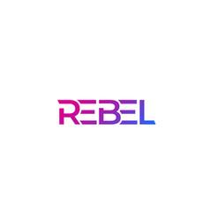 Rebel logo modern design vector