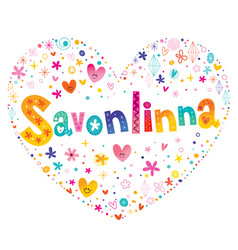 Savonlinna town and a municipality in finland vector