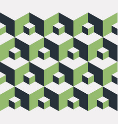 seamless pattern 3d cube vector image