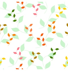 Seamless pattern of different colored autumn leave vector