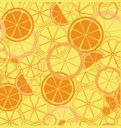 seamless pattern with oranges slice vector image