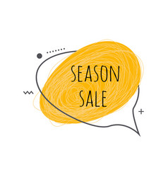 season sale text design on grunge scratch textured vector image