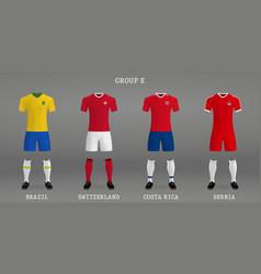 Set football kit vector