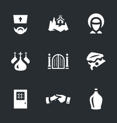 Set of monastery icons vector