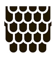 Shingles roicon glyph vector