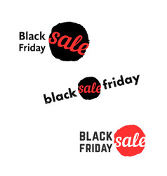 simple black friday sale logo vector image