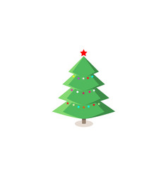 simple christmas tree original new year card vector image