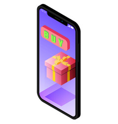 smartfon with notch displaymobile online shopping vector image
