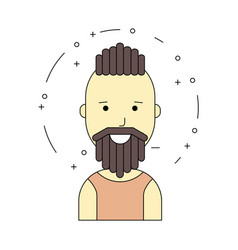 Smiling man character minimalism cartoon flat vector
