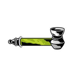 Smoking tube pipe vector