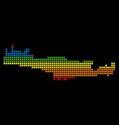 Spectrum pixel lgbt crete island map vector