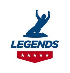 Sporty lettering emblem legend logo typography vector