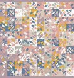 Square floral random girly seamless graphic swatch vector