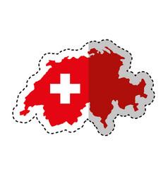 switzerland map isolated icon vector image