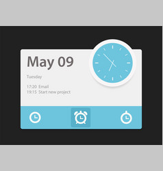 time widget vector image