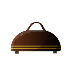 traditional leather suitcase traveler luggage vector image
