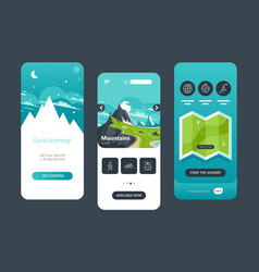 ui ux gui wireframe set collection travels vector image