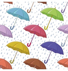 Umbrella and rain seamless background vector image