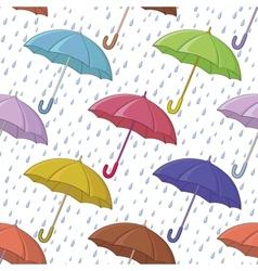 Umbrella and rain seamless background vector