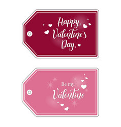 valentine tags for gifts vector image