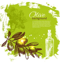 Vintage olive background vector
