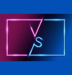 vs letters versus banner competitive concept vector image