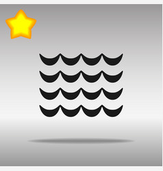 Wave black icon button logo symbol concept vector