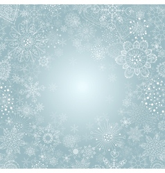 Winter background with snowflake vector