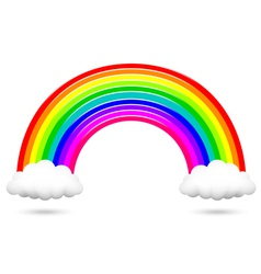 colorful rainbow and clouds vector image vector image