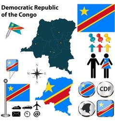 Democratic Republic of the Congo map vector image vector image