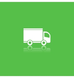 green delivery icon vector image