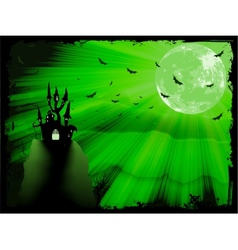 Halloween poster with zombie EPS 10 vector image vector image
