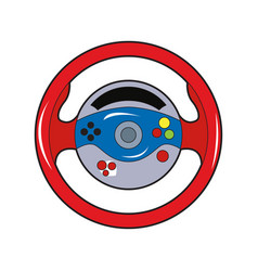 isolated wheel joystick vector image