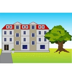 Big house on glade vector image vector image