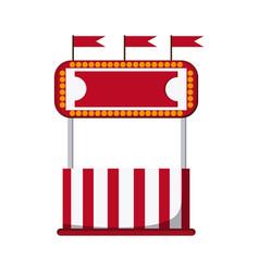 Circus ticket tent icon vector