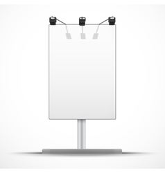 Empty mockup billboard with spotlights and day vector image