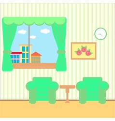 Nice room with a window vector image