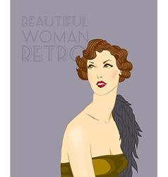 retro woman vector image